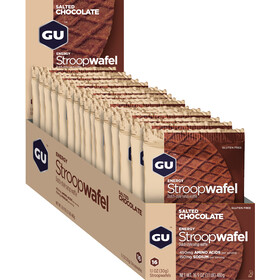 GU Energy Stroop Wafel Box Glutenvrij 16x32g, Salted Chocolate